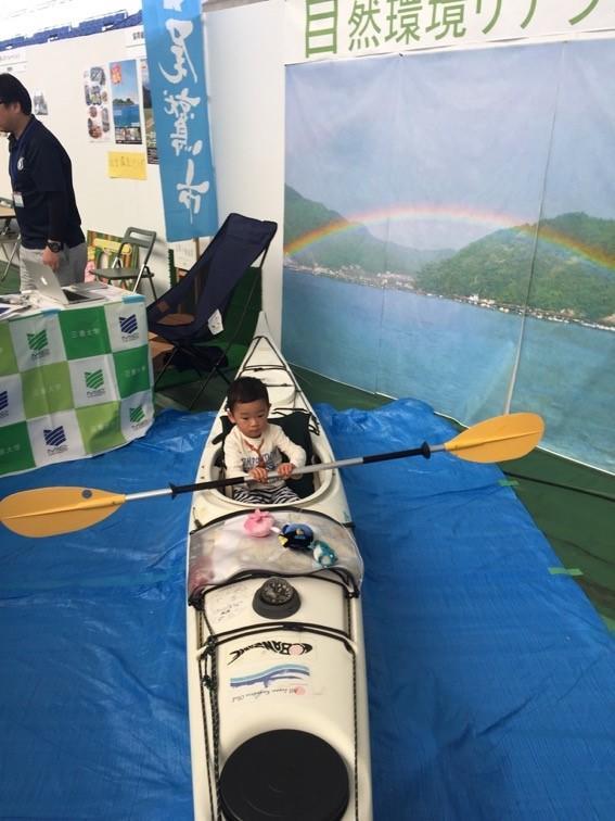 実習で使用したシーカヤックへの乗船体験なども実施